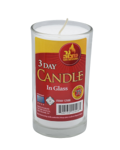 YAHRTZEIT CANDLE 3 DAY GLASS