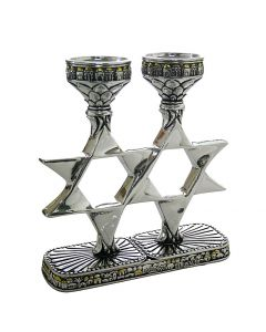 CANDLESTICKS STAR OF DAVID - DESIGN SILVERPLATED