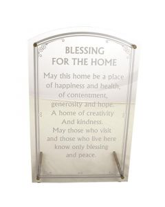 HOME BLESSING SLV ACRYLIC ENGLISH - 28 X 18 CM