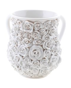 WASH CUP WHITE ROSES