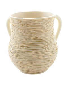 WASH CUP CREAM STRING DESIGN