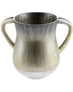 Aluminium Washing Cup 13 cm- White and black.