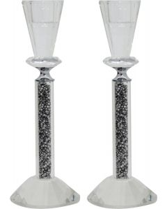 CRYSTAL CANDLESTICK 20 CM.