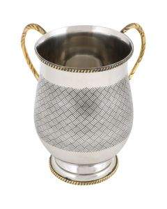 Hammered Design Aluminium Washing Cup - 18cm with Base