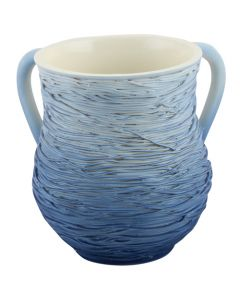 WASH CUP BRUSHED BLUE ROPES - RESIN