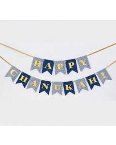 CHANUKAH FLAG BANNER GOLD