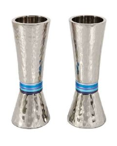 CANDLESTICKS HAMMERED BLUE RINGS