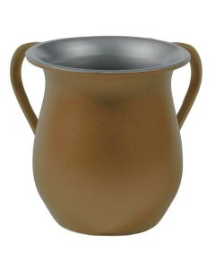 Wash Cup, Aluminum, Gold Sand Finish