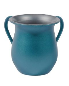 Wash Cup, Aluminum, Blue Sand Finish