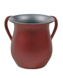 Wash Cup, Aluminum, Red Sand Finish