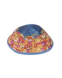 KIPPAH EMBROIDERED JERUSALEM MULTICOLOR