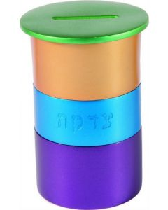 CHARITY BOX STACK OF COLORS - ANODIZED ALUMINUM
