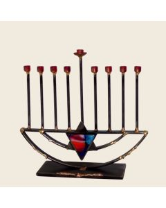 Menorah Sculpture with Tall Rods