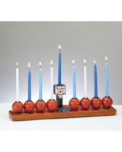 MENORAH CERAMIC - BASKETBALL THEME