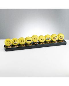 Hand Painted Ceramic Emoji Menorah