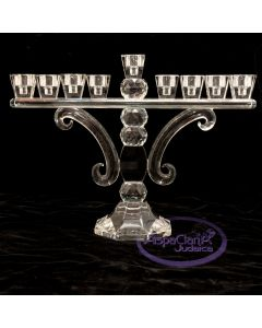 Elegant Tall Crystal Ball Menorah