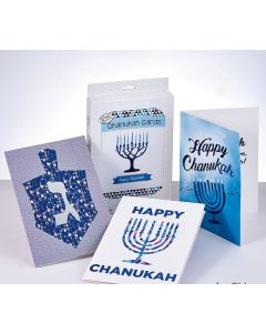 CHANUKAH CARDS 12 PACKAGED