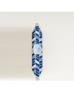 GEOMETRIC BLUE MEZUZAH