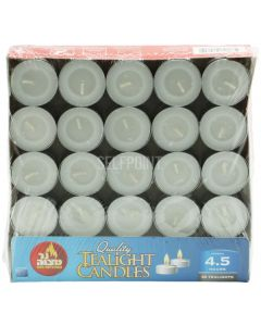 TEALIGHTS CLEAR CUP 4 HOURS