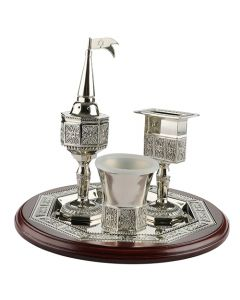 HAVDALAH SET NICKEL AND WOOD