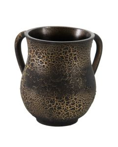 WASH CUP BLACK CRACKED GOLD