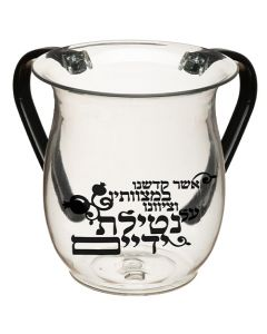 WASH CUP ACRYLIC BLACK BLESSING
