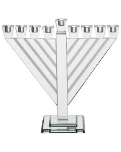 Large Rambam Crystal Menorah-15 Inches