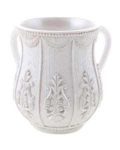 WASH CUP WHITE ORNAMENTAL