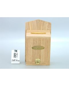 CHARITY BOX NATURAL  WOOD -WALL MOUNT