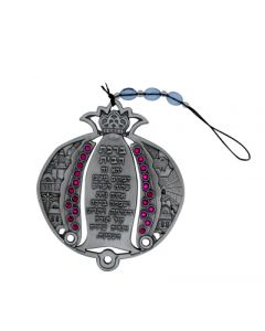 HOME BLESSING POMEGRANATE - PEWTER WITH PINK GEMS