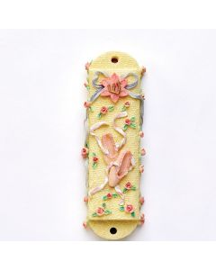 BALLET SHOES MEZUZAH WITH FLOWERS