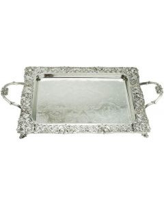 SILVERPLATED CANDLESTICK TRAY