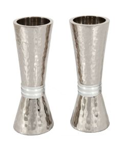 CANDLESTICKS HAMMERED GREY RINGS