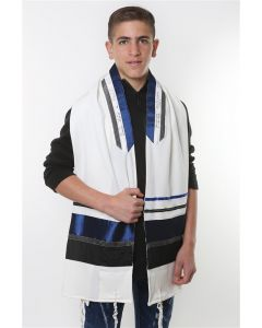 Tallit / Tallis Prayer Shawl Wool Set - By Israeli Designer