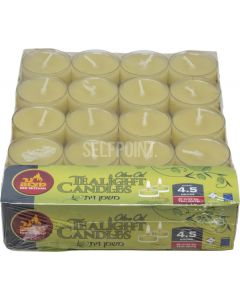 TEALIGHTS OLIVE OIL  40 PK