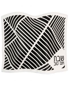 LASERCUT  BLACK&WHITE  CHALLAH COVERS