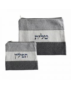 LINEN TALIT AND TEFILIN SET