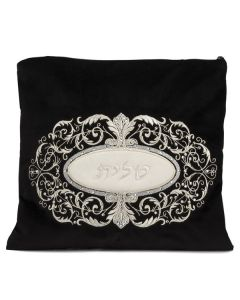 Tallit Bag, Velvet, Ornate Oval with Diamonds