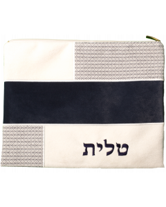 Tallit Bag, Suede Look, White Patches