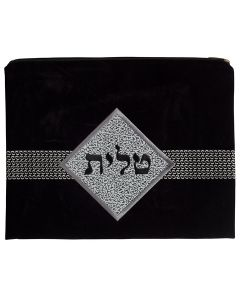 Tallit Bag, Suede Look, Black Diamond