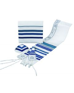 Tallit / Tallis Prayer Shawl Wool Set - Blues