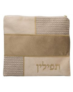 Tefillin Bag, Suede Look, Tan Patches