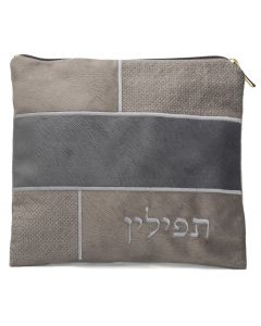 Tefillin Bag, Suede Look, Grey Patches