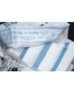 Tallit / Tallis Prayer Shawl Wool Non-Slip Weave - Slate Blue #36
