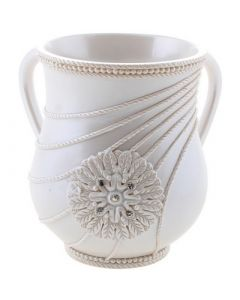 Wash Cup, Polyresin, Pearl Flower