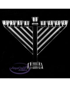 Crystal Rambam Style Menorah, 14 inches