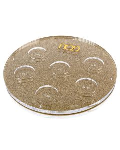 Lucite Seder Plate- Gold